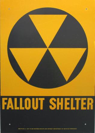 Ekte Fallout Shelter Skilt Metall 35cm Offisielt 100% Ekte - 50 år gamle