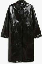 Long patent coat - Black