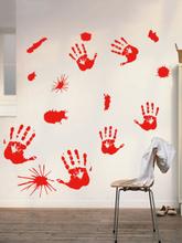1 STÜCK Halloween Schädel Handabdruck Wandaufkleber Hintergrund Wanddekoration Muster Aufkleber Personalisiertes Design