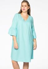 Dress frill sl. LINEN 42/44 (42/44) blue (230)