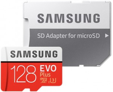 SAMSUNG MICRO SDXC EVO PLUS 128GB CLASS 10 W/SD-ADAPTER