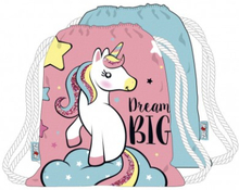 Unicorn Dream Big Gympapåse Skoväska 44x38cm
