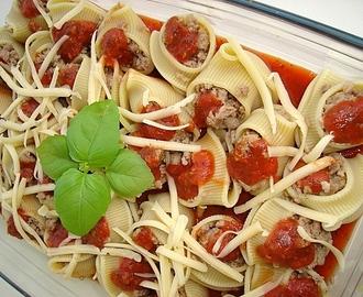 recipe: zapiekanka makaronowa z mięsem mielonym i pieczarkami [31]