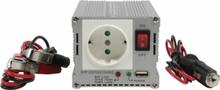 Strömomvandlare Modifierad Sinusvåg 12 VDC - AC 230V 300W F (CEE 7/3) / USB