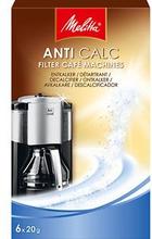 Melitta Melitta Anti Calc avkalkningsmedel kaffebryggare, 6 st 96255MEL Replace: N/AMelitta Melitta Anti Calc avkalkningsmedel kaffebryggare, 6 st