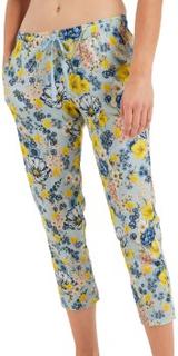 Calida Viktor And Rolf Organic Cotton Capri Pants Blå m blomster økologisk bomull Small Dame