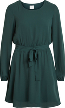 VILA Long Sleeved Mini Dress Women Green