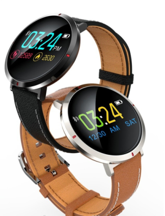 Leather Smart Watch