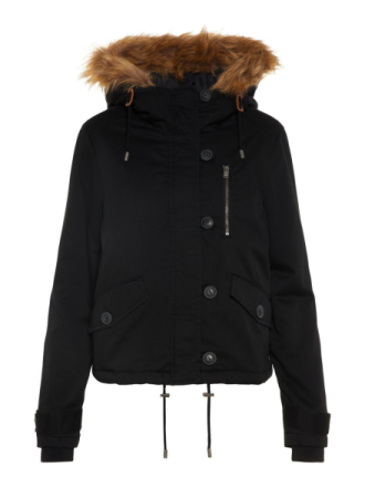 NOISY MAY Short Winter Parka Coat Women Black