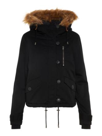 NOISY MAY Short Winter Parka Coat Women Black