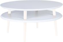 UFO Couchtisch Dmr 70cm x Höhe 35cm - Weiß/Weiß Beine - Weiß