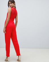 French Connection fitted jumpsuit-Red