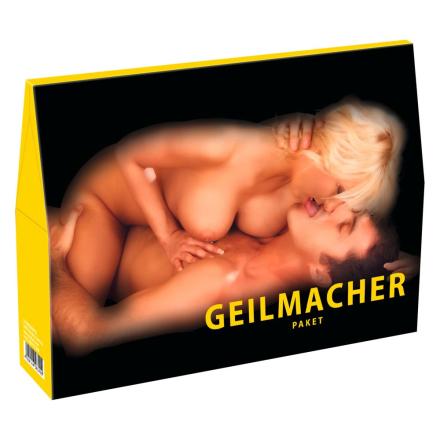 Geilmacher Pakke med Pornofilm og Sexlegetøj der tænder