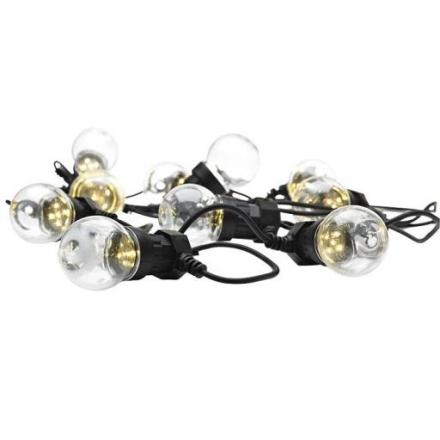 Markslöjd Dakke Lyskæde, 10 LED, 750 cm, 24V, IP44, Klar