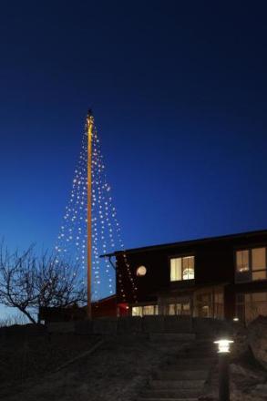 Markslöjd Sken Flagstangskæde med waterfall effekt, 440 LED, 10+2 meter, 24V, IP44