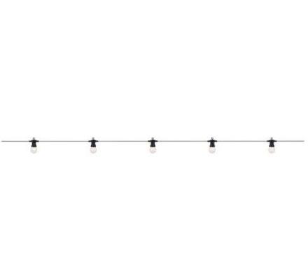 Markslöjd Dakke lyskæde 10 LED 750 cm i opal hvid - Udendørs