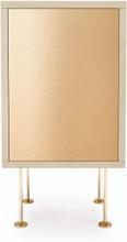 Decotique - Vogue Nattbord, Hvitpigmentert Eik/Messing