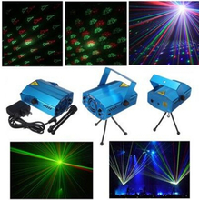 Mini Laser Stage Music Lighting Voice Control Disco Party Pub Led Laser Stage Light Lamp Projector DJ Equipment