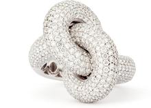 Engelbert Absolutely Fat Knot Ring Vitguld White Diamonds