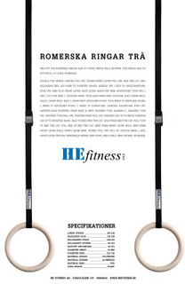 Romerska ringar (Modell: Endast straps 4,5 m (par))