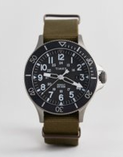 Timex Allied canvas watch 43mm exclusive to ASOS - Green