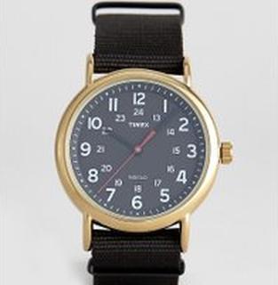 Timex Weekender canvas watch 40mm exclusive to ASOS - Black