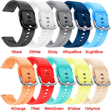20mm 22mm Soft Silicone Watch Strap Band for Samsung Galaxy Watch 42mm Active2 40mm for Galaxy Watch 3 41 45mm for Huami Amazfit