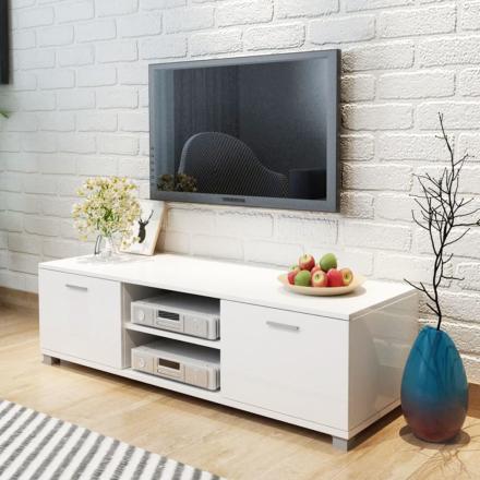 vidaXL TV-bänk högglans vit 140x40,3x34,7 cm