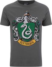 Harry Potter Men's Slytherin Shield T-Shirt - Grey - M