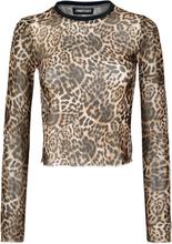 Jawbreaker - Native New Yorker Leopard Mesh Top - Långärmad tröja - leopard