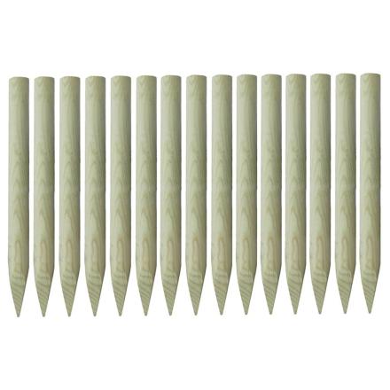 vidaXL spidse hegnspæle 15 stk. imprægneret fyrretræ 4 x 100 cm