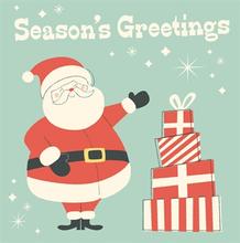 Julkort seasons greetings santa