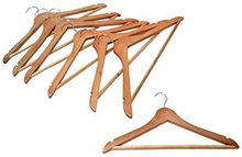 Wooden Clothes Hangers - 7 Pieces