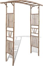 vidaXL Rosenbåge bambu 145x40x187 cm