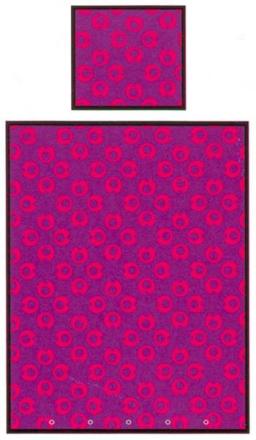 "Økologisk Baby sengetøj - Freds World - 70x100 cm - ""My I"" lilla - Home-tex"