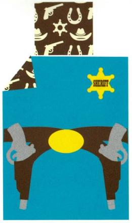 Økologisk Baby sengetøj - Freds World - 70x100 cm - Cowboy blå - Home-tex
