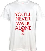 FC Liverpool - You'll Never Walk Alone -T-skjorte - hvit