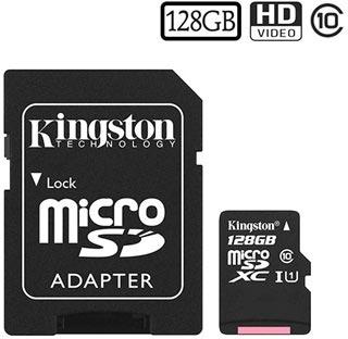 Kingston Canvas Select MicroSDXC Hukommelseskort SDCS/128GB - 128GB