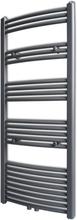 vidaXL Handdukstork centralvärme element båge grå 600 x 1424 mm