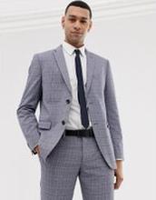 Esprit – Grårutig kostymjacka med smal passform