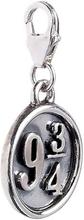 Harry Potter Sterling Silver Platform 9 3/4 Clip on Charm