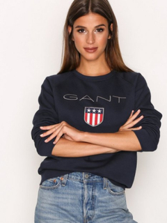 GANT Gant Shield Logo C-Neck Sweat Sweatshirts