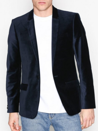 River Island Badger Move on Jacket Bleiserit & puvut Navy