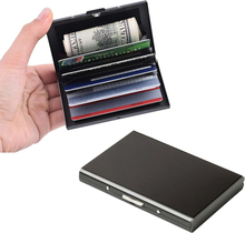Multi-Function Stainless Steel Bank Credit Card Holder Anti-theft RFID Metal Wallet Purse Women Men Business Travel Card Bag New