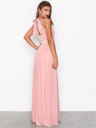 NLY Eve Seethrough Bow Gown Maxiklänningar Rose