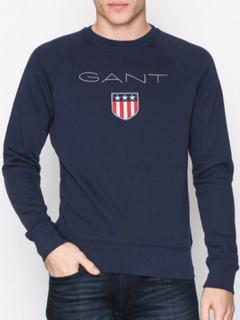 Gant Gant Shield C-Neck Sweat Gensere Blue