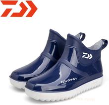 Daiwa 2020 Men's Waterproof Fishing Rain Boots Outdoor Mountaineering Rain Boots Solid Color Fashion Daiwa Fishing Shoes