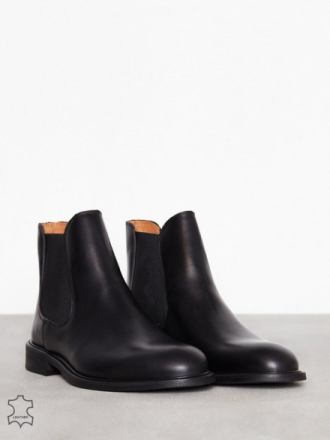 Selected Homme Slhbaxter Chelsea Leather Boot B No Chelsea-saappaat Musta