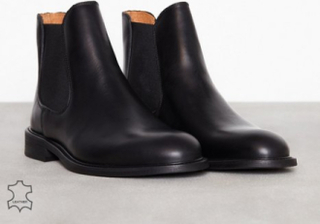 Selected Homme Slhbaxter Chelsea Leather Boot B No Chelsea boots Svart