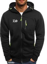 2020 Daiwa Autumn New Men's Fishing Fleece Cardigan 2020 Winter Outdoor Sports Warm Casual Hooded Jacket Size S-3XL